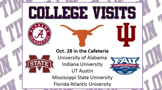 college visits oct 28