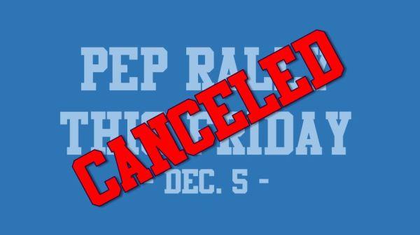 canceled pep rally