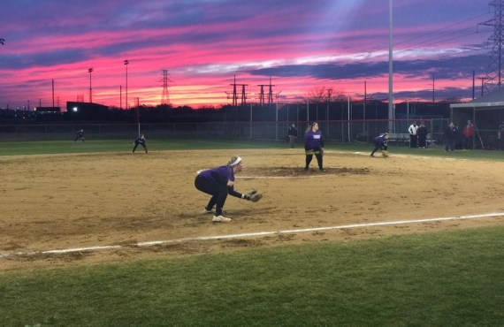 Timber Creek Lady Falcons softball team practices Feb. 4, 2015. (Photo courtesy Timber Creek Softball)