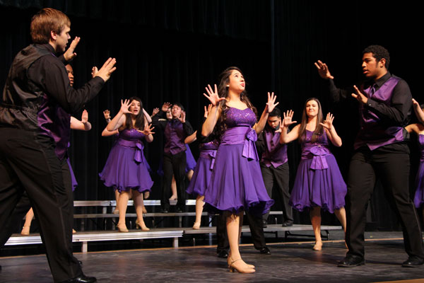 The Falcon Pizzazz show choir performs on Jan. 30, 2015. (Photo from The Creek Yearbook)