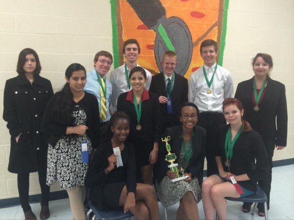Timber Creek Speech and Debate team following a competition at Trimble Tech on Jan. 30, 2015.