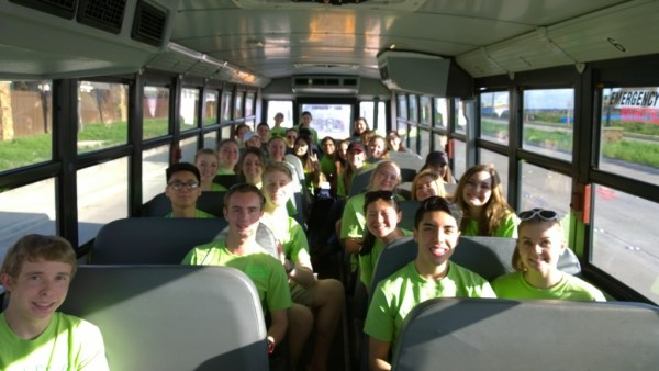 Timber Creek student volunteers head to the Chad Powell Memorial Special Olympics Track Meet on March 17, 2015. (Photo by Jared Swart)