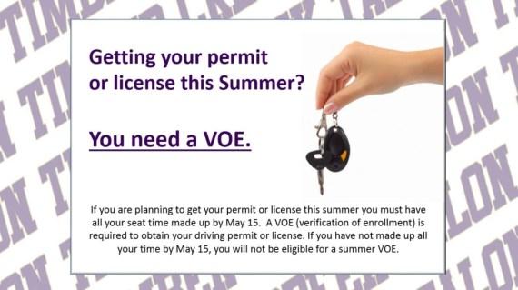 summer permit voe