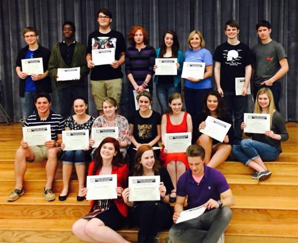Scholarship recipients for the 2015 Timber Creek Theatre Boosters. (Photo courtesy of Theatre Boosters.)