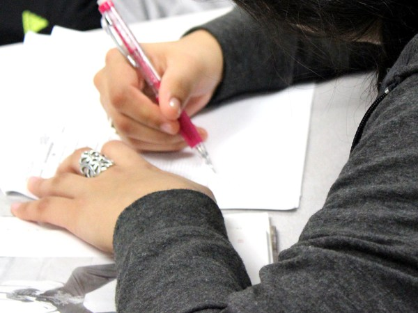 A Timber Creek student works during class. (Photo by TCHS Commercial Photography Students)