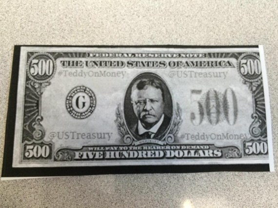 teddy on money