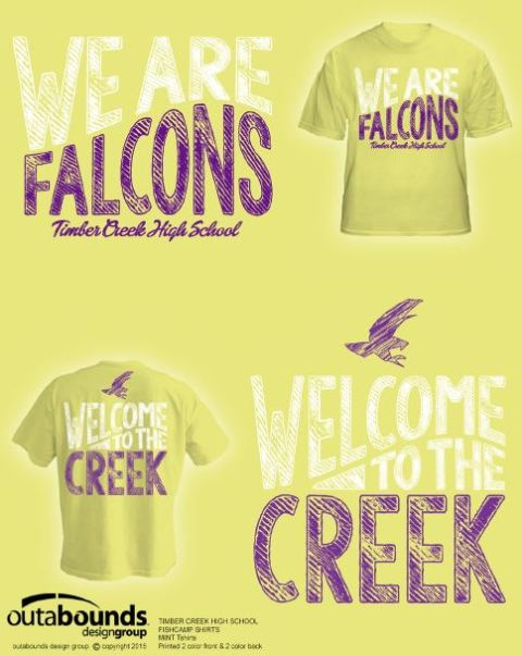 """""""Welcome to the Creek"""" cornsilk yellow t-shirts are for the class of 2019."""