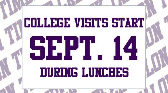 college visits start sept 14