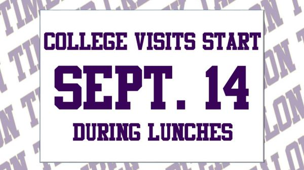 college visits start sept 14