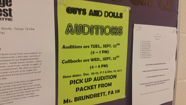 guy dolls auditions