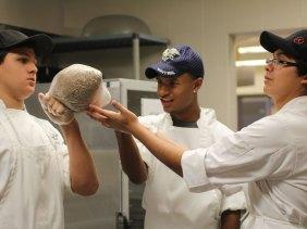 Three TCHS culinary students