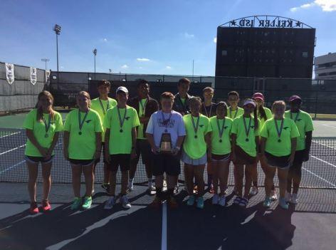 The 2015 TCHS JV tennis team.