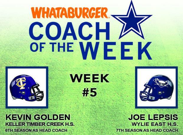 whataburger coach of week