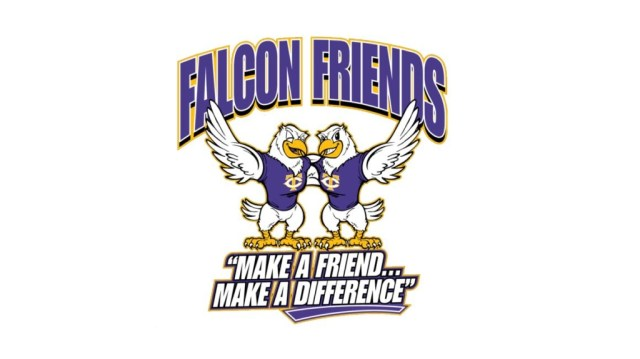 falcon friends logo white