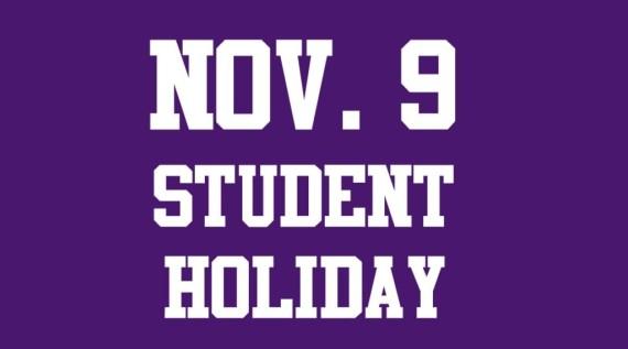 nov 9 student holiday