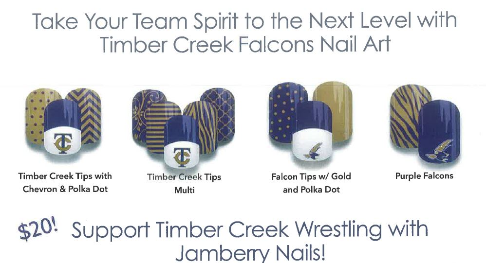 Girls Wrestling Uses Nail Art to Raise Funds | Timber Creek Talon
