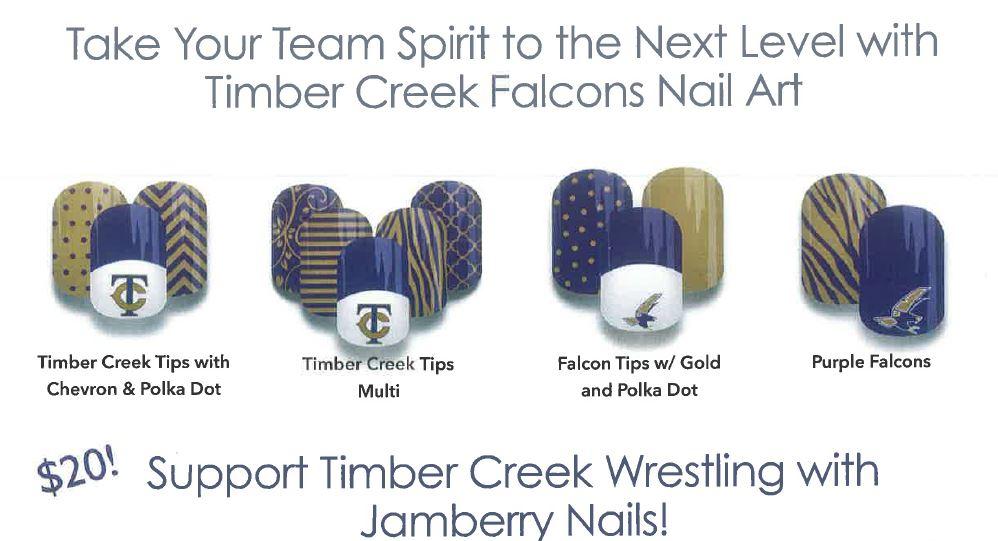 Girls Wrestling Uses Nail Art to Raise Funds   Timber Creek Talon