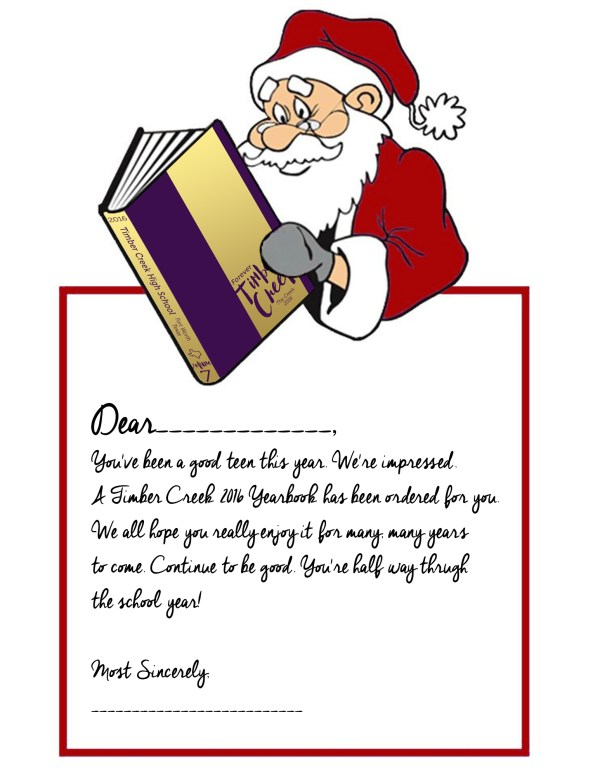 2016 YB Santa letter
