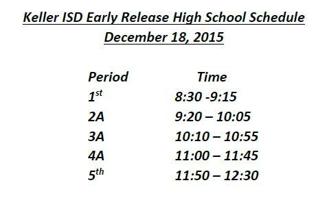 dec 18 schedule