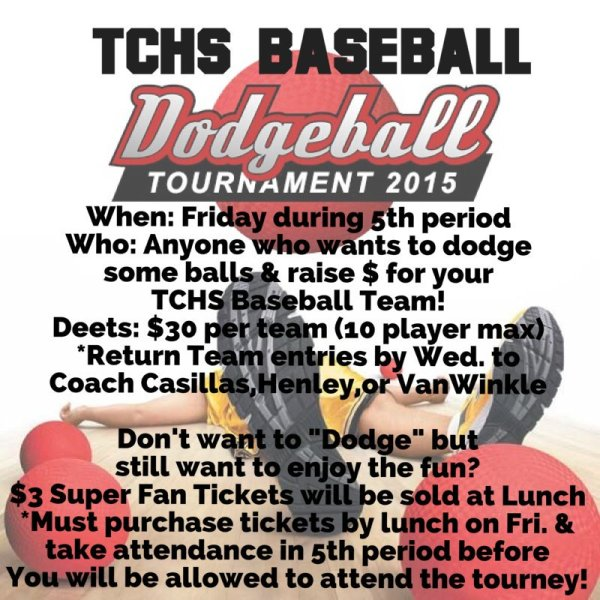 tchs baseball dodgeball tournament