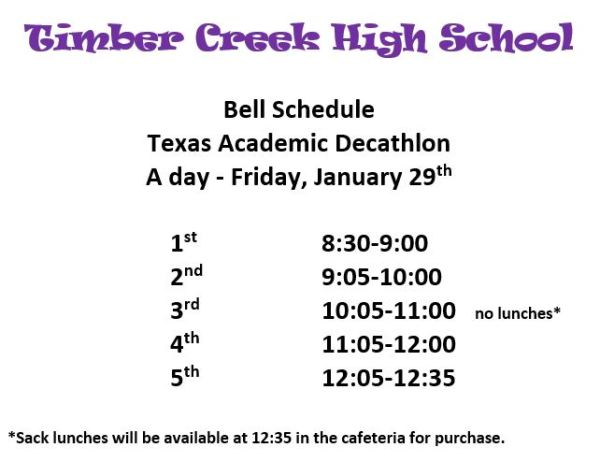 academic decathalon jan 29 tchs