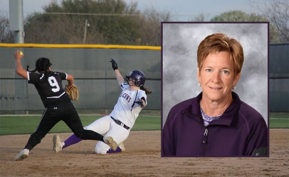 Timber Creek softball coach Laura Moore (inset) has been inducted into the HEB Sports Hall of Fame.