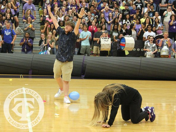 Photos from the Sept. 15, 2016 Homecoming Pep Rally. (Photo by The Creek Yearbook photographer Alexa Evan.)