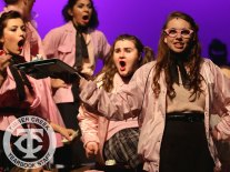 "Photos from the Gold Cast of the district-wide musical, ""Grease"" (Photo by The Creek Yearbook photographer Mason Chavez.)"