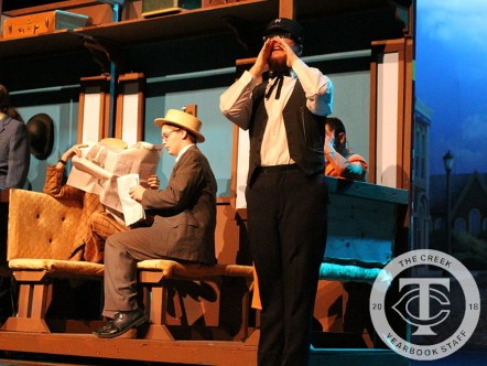 """Photos from a media preview of Timber Creek Theatre's """"The Music Man."""" (Photos by The Creek Yearbook photographer Alexa Evans.)"""