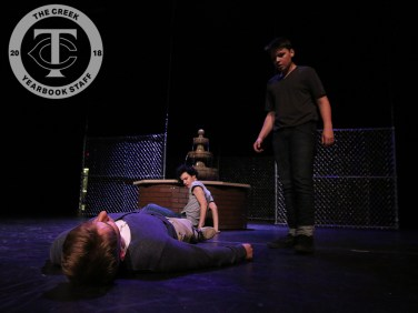 """Photos from the dress rehearsal of """"The Outsiders"""" on April 18, 2018. (Photos by Tia Baynard.)"""