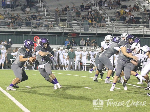 View photos from the Sept. 7, 2018 varsity Falcon Football game versus Prosper. (Photos from The Creek Yearbok photographers.)