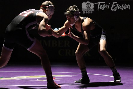 Photos from Wrestling match against Rockwall Heath on Jan 10. ( Photos by The Creek Yearbook Photographer Temi Ejuwa)