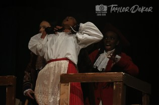 """Photos from the Dress Rehearsal of Timber Creek Theatre's """"Treasure Island"""" on April 3, 2019. (Photos by The Creek Yearbook photographer Taylor Deker.)"""