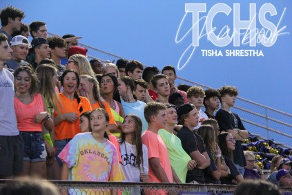 Photos from the Varsity Football game versus Rockwall-Heath on August 30, 2019. (Photo by The Creek Yearbook photographer Tisha Shrestha.)