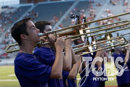 Photos from the Varsity Football game versus Rockwall-Heath on August 30, 2019. (Photo by The Creek Yearbook photographer Peyton Lea.)
