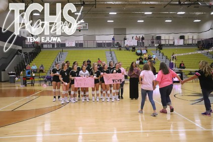 Photos from the Oct. 1, 2019 varsity volleyball game versus Fossil Ridge. (Photos by The Creek Yearbook photographer Temi Ejuwa.)