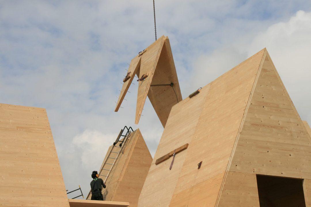Construction d'une maison en CLT à la mer