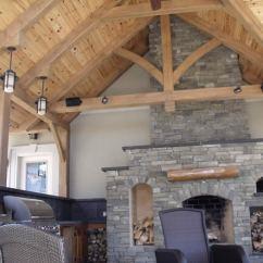 Outdoor Kitchen Frame Tile Designs Timber Kitchens