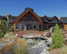 Landscaping Timberhaven Log Home
