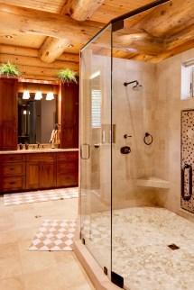 Log Cabin Bathroom Showers