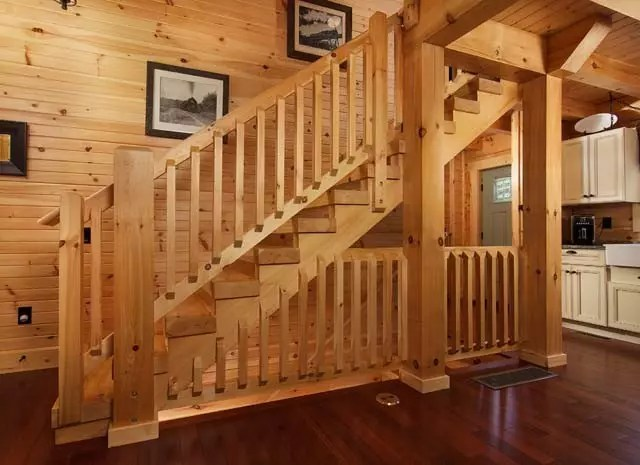 Country Chic Log Home Tour  Timberhaven Log  Timber Homes