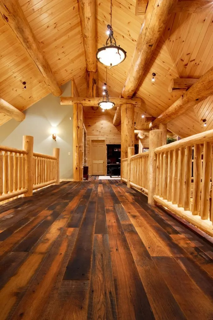 best flooring for living room and kitchen sofa set pictures grand lodge log home tour - timberhaven & timber homes