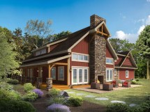 Timber Frame Log Home Plans