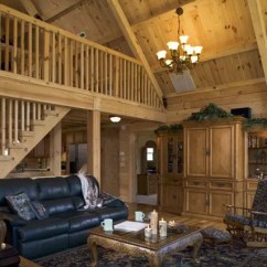 Decor For Living Room Leather Sofas Great Rooms - Timberhaven Log & Timber Homes