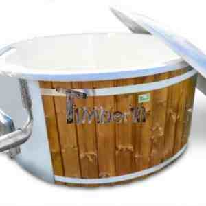 Wood fired hot tub for sale Wellness royal fiberglass model