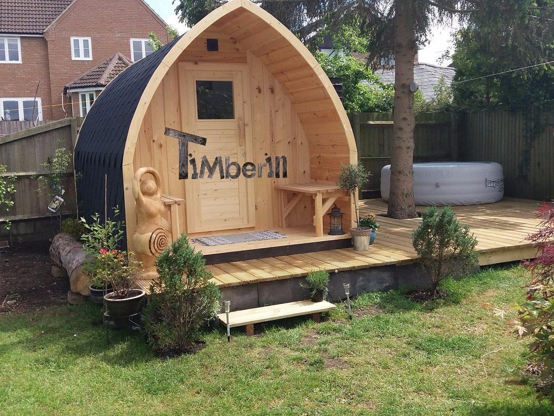Outdoor Garden Wooden Sauna Iglu Design UK