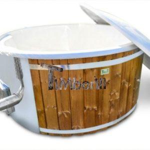 Badefass gfk Thermoholz mit integriertem Ofen Wellness Royal