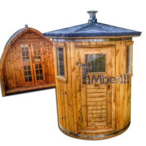 Udendørs sauna til begrænset haveplads