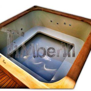 Bain nordique en polypropylene rectangulaire pour max 16 personnes!