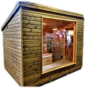 Nowoczesna, ogrodowa sauna